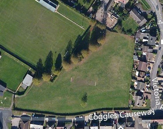 Aerial photo of skatepark site