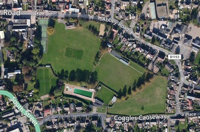 Aerial photo Abbey Lawn